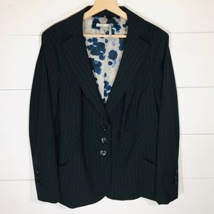 CLASSIQUES ENTIER Black Pinstripe Blazer Jacket
